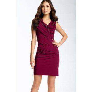 Suzi Chin Asymmetrical Draped Jersey Dress 14 NEW
